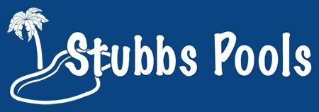 Stubbs Pools Logo in all white